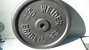 Weider 50 Lb Barbell Set Of 2 Miss-cast Rare Brabell Vintage