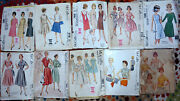 1950and039s 60and039s Mccalls Brand Sewing Patterns Womens 14 Size 36 Bust U-choose