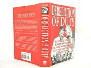 Dereliction Of Duty Johnson Mcnamara And The Lies Hc Vg+ 1st And039flat Signedand039