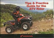 Honda 2008 Tips And Practice Guide For The Atv Rider Booklet Oem Part No. 51atv610