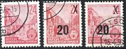 Ddr 1954 Post Stamp Scarce And Rare Post Stamp Berlin Red Denominated 20-24
