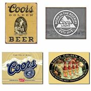 Bundle Coors Tin Signs - Coors Golden Vintage Coors Light Born In The Rocki...