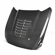 15-17 Ford Mustang Gt500 Style Double Sided Hood Ac-hd15fdmu-gt5-ds