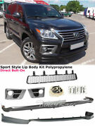 For 13-15 Lexus Lx 570 Front Rear Bumper Lip Sport Spoiler Splitter Lip Air Dam