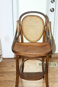 Antique Jacob And Josef Kohn Extremely Rare Childs Bentwood High Chair 1874 Cool