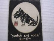 1940and039s Alexanderand039s R Fritz Scotch And Soda Crawford St Providence Ri Matchcover
