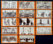 Lot Of 14 Antique Vintage St Augustine Florida Views By Maynard Stereoview Cards