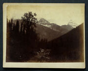 1880's Selkirk View Mount Sir Donald Antique Cpr Canadian Pacific Railway Photo
