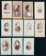 1800and039s Antique Cdv Photo Lot Unidentified Royalty By August Red / Linz Austria