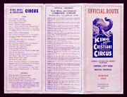 1952 Vintage King Bros And Cristiani Circus Official Route Card Brochure Macon Ga