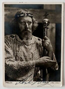 Anton Lang Vintage Signed Autograph Photo Passion Play Stage Actor And Pottery