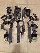 Ford Lincoln Towncar Seatbelts Oem Complete Stock Factory Set Original Gray Oem