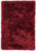 Plush Wine Red Thick Luxurious Deep Soft Modern Polyester Non Shed Fluffy...