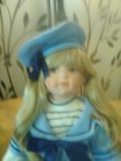 Beautiful Vintage Doll Tall Porcelain Numbered
