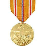 Genuine U.s. Full Size Medal Asiatic Pacific Campaign - 24k Gold Plated