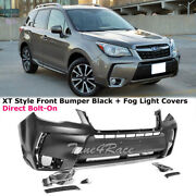 For 14-18 Subaru Forester Xt Style Front Bumper Conversion And Fog Light Cover