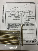 10ea Ms20004h56 1/4-28 Cad2 Internally Wrenching Drilled Head Bolt