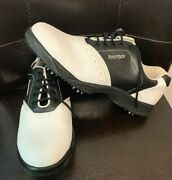 Footjoy Greenjoys Golf Shoes Soft Spikes Saddle Black And White 48753 Womenand039s 10 M