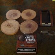 Copenhagen Hand Crafted Wooden Coasters, Ashtray And Bottle Opener Tool New