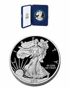 Cameo Proof 2012-w American Silver Eagle With Box And Coa