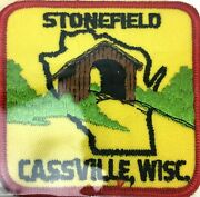 Stonefield Cassville Wisconsin Sew On Or Stick On Embroidered Patch Bridge Nos