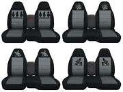 Fits Ford Ranger/truck Car Seat Covers 60-40console Not Included Blk-charcoal