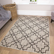 Silver Gray Low Pile Washable Moroccan Trellis Rugs Indoor And Outdoor Patio Rugs