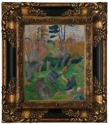 Gauguin Brittany Landscape With Cows 1889 Wood Framed Canvas Print Repro 8x10