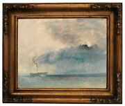 Turner A Paddle-steamer In A Storm 1841 Wood Framed Canvas Print Repro 11x14