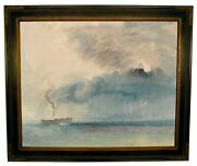 Turner A Paddle-steamer In A Storm 1841 Framed Canvas Print Repro 16x20
