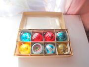 Vtg Exquisite Mercury Glass Christmas Tree Ornaments Hand Blow Paint Germany Lot