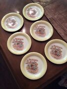 Homer Laughlin Swing Early 1940and039s Colonial Kitchen Set Of Six 6andrdquo Plates