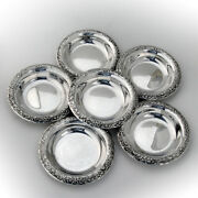 Repousse Coasters Set Of 6 Sterling Silver Kirk And Son