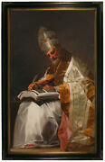 Goya Saint Gregory The Great Pope 1799 Wood Framed Canvas Print Repro 19x32