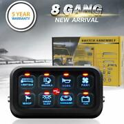 Universal 8 Gang Led Touch Switch Panel Control System 12v 24v Auto Boat Marine