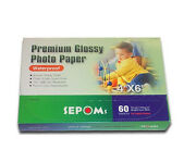 Lot Of 288 Sepoms High Glossy 4 X 6 Premium Photo Paper 60 Sheets 1.9 ¢/ Sheet