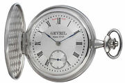 Gevril Mens 1758 Collection Silver Dial Sterling Silver Pocket Watch G680.021.56