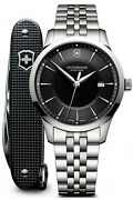 Watch Man Victorinox Alliance V241801.1 Of Stainless Steel Silver