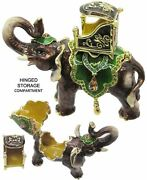 Elephant Jeweled Trinket Box With Crystals, By Rucinni