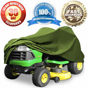 Green Riding Lawn Mower Cover Garden Tractor Fabric Weather Resist For 54 Decks