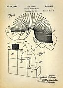 Decor Poster.home Interior Design.room Art.invention Patent.slinky Toy.6957