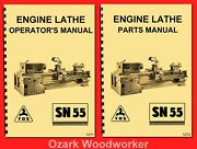 Tos Sn55 Engine Metal Lathe Ownerand039s Instructions And Parts Manuals 1271