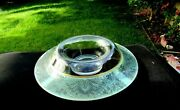 Cambridge Turquoise Green 13 Console Bowl With Silver Overlay
