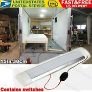 15and039and039x 3.15and039and039 Boat/rv Interior Led Ceiling Light Fixture With Switch 12v 1500lm