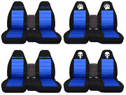 Fits Ford Ranger/truck Car Seat Covers 60-40 Console Not Included Blk-med Blue