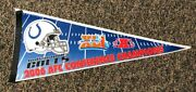 Vintage Pennant Super Bowl Xli Colts Peyton Manning 2006 Afc Champions