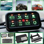 8 Gang On-off Touch Switch Panel Set For Chevrolet Jeep Cherokee Xj Rv Marine