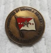 Authentic Dennis J. Reimer Chief Of Staff Us Army 100 Real Rare Challenge Coin