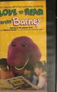 The Ultimate Barney Collectors Vhs-love To Read W Barney Rare Library Only Copy