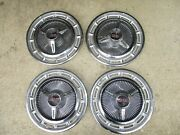 65 66 67 Chevrolet Ss Spinner Hub Caps 14 Set Of 4 Chevy Hubcaps 1965 1966 1967